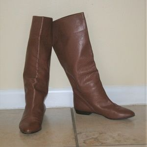 Vintage Brown Leather Boots Made In Italy 38/8